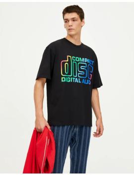 maglietta-con-scritta-multicolore by pull-&-bear