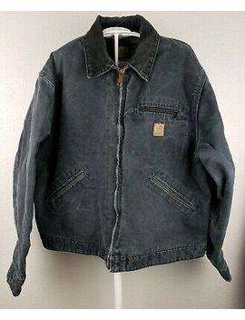 carhartt-blanket-lined-detroit-jacket-canvas-j97-ptl-mens-size-large by carhartt