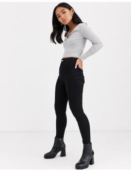 topshop-petite-joni-skinny-jeans-in-black by topshop