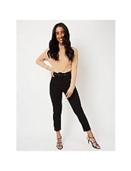 black-corduroy-buckle-belt-ankle-grazer-trousers by asda