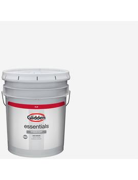 5-gal-white-flat-interior-paint by glidden-essentials