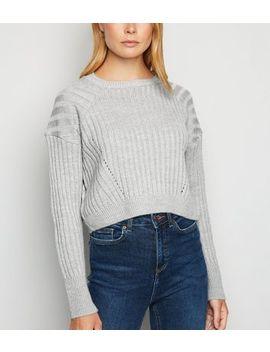 carpe-diem-grey-ribbed-knit-crop-jumper by new-look