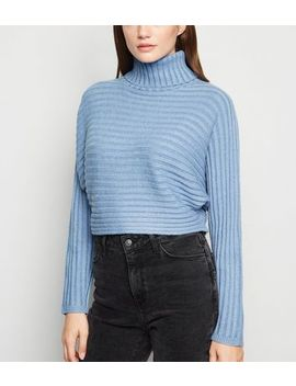 pale-blue-roll-neck-crop-jumper by new-look