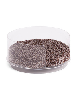 acrylic-and-leopard-pet-bed by tainoki