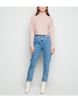 pale-pink-roll-neck-crop-jumper by new-look