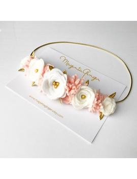 flower-crown-blush-and-white,-flower-crown-wedding,-flower-crown-girl,-floral-headband,-girl-flower-crown,-flower-girl-headband,-baptism by etsy