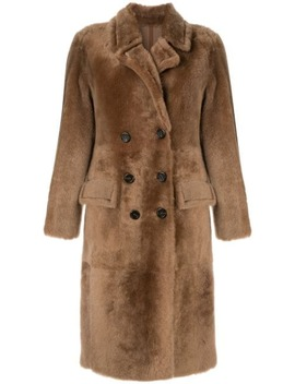 shearling-double-breasted-coat by yves-salomon