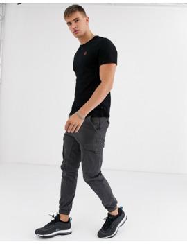 burton-menswear-t-shirt-in-black-with-rose-embroidery by burton-menswear-london