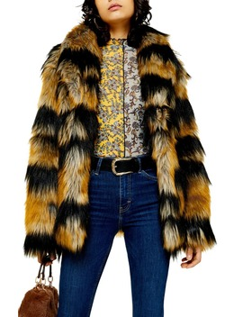 boxy-faux-fur-coat by topshop