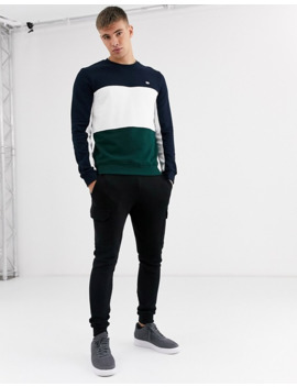 burton-menswear-cut-&-sew-sweat-in-dark-green by burton-menswear-london