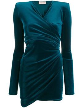 draped-v-neck-mini-dress by alexandre-vauthier