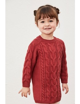 rust-cable-jumper-dress-(3mths-7yrs) by next