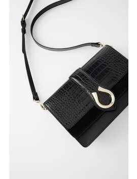 animal-print-crossbody-bag-with-horseshoe-detail by zara