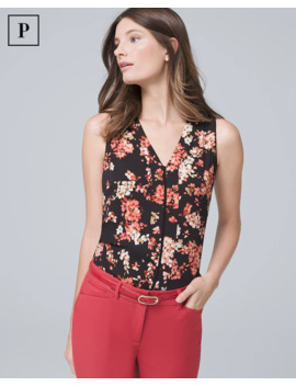 floral-pleat-detail-shell by whbm