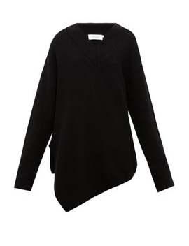 asymmetric-merino-wool-sweater by marquesalmeida