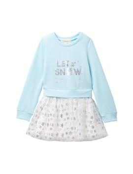 """sequin-""""let-it-snow""""-fleece-&-tutu-skirt-dress-(toddler-&-little-girls) by btween"""