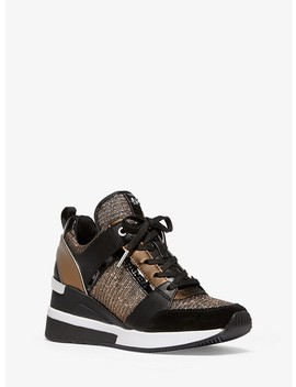 georgie-chain-mesh-and-leather-trainer by michael-michael-kors