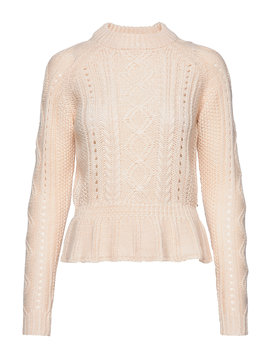 chunky-cable-knit-with-peplum by scotch-&-soda