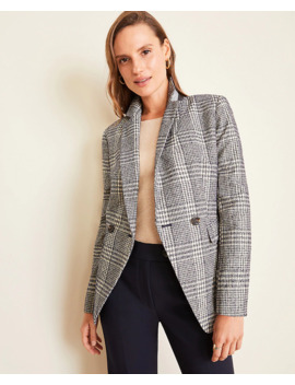 petite-plaid-long-double-breasted-blazer by ann-taylor
