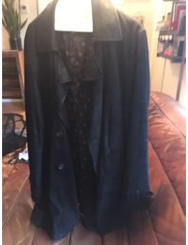 john-varvatos-black-suede-trench-coat by john-varvatos  ×