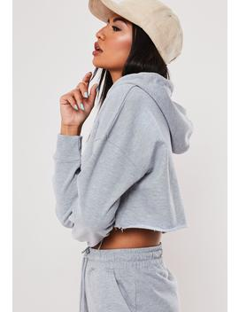 tall-gray-oversized-hoodie-and-shorts-co-ord-set by missguided