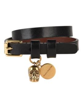 double-leather-bracelet by alexander-mcqueen