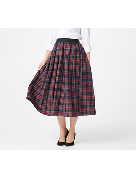 joan-rivers-regular-pull-on-tartan-plaid-midi-skirt by the-joan-rivers-classics-collection