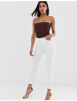 in-the-style---gestreepte-bandeau-bodysuit by asos