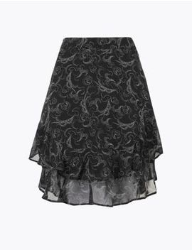 printed-ruffled-a-line-mini-skirt by marks-&-spencer