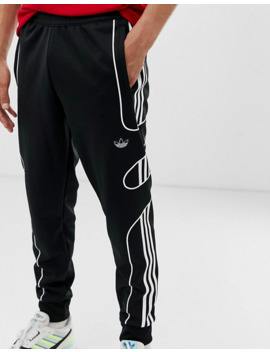 adidas-originals-flamestrike-sweatpants-with-floating-3-stripes-in-black by adidas-originals