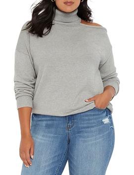 shoulder-cutout-turtleneck-sweater by eloquii