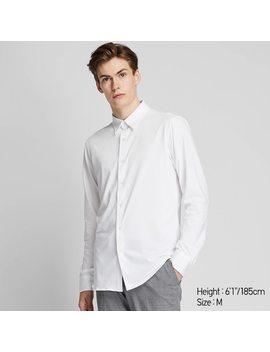 camicia-easy-care-jersey-slim-(colletto-classico)-uomo by uniqlo
