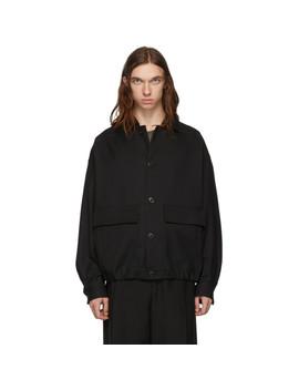 ブラック-ウール-オーバーサイズ-ブルゾン-ジャケット by lemaire
