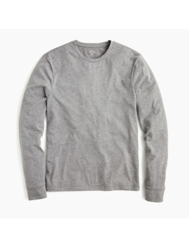 slim-essential-long-sleeve-t-shirt-in-heathered-cotton by jcrew