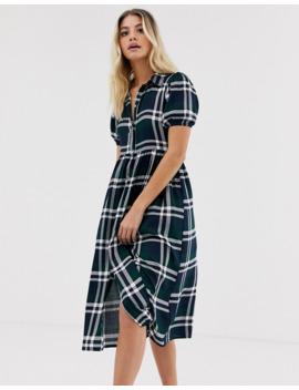 wednesdays-girl-–-rutig-skjortklänning-i-midimodell by wednesdays-girl