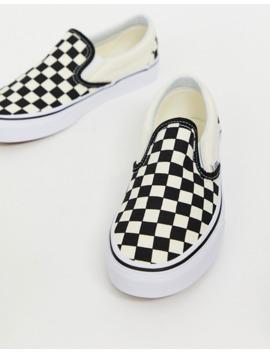 vans-classic---baskets-à-enfiler-motif-damier by vans