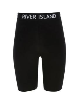 girls-black-ri-waistband-cycling-shorts by river-island
