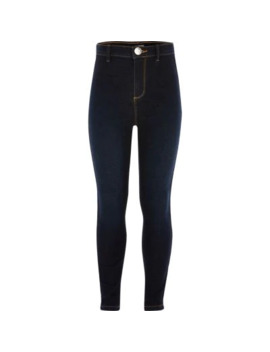 girls-dark-blue-kaia-disco-skinny-jeggings by river-island