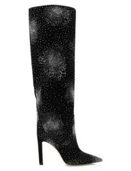 mavis-tall-embellished-suede-boots by jimmy-choo