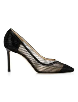 romy-mesh-patent-leather-pumps by jimmy-choo