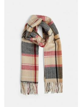 cream-check-blanket-scarf by missguided