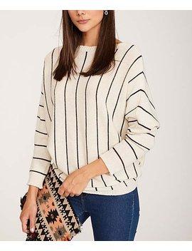 white-stripe-wool-blend-sweater---women-&-plus by keepkool