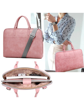 2019-fashion-new-pu-waterproof-scratch-resistant-laptop-shoulder-bag-13-14-15inch-notebook-shoulder-carry-case-for-macbook-air by aliexpresscom