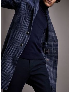 th-flex-wool-blend-check-overcoat by tommy-hilfiger