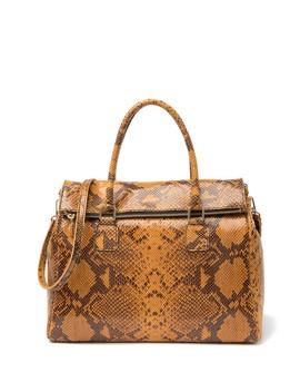 garcia-snake-embossed-satchel-bag by persaman-new-york