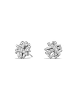 crossover-sterling-silver-earrings-with-diamonds by david-yurman