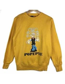 rare!!popeye-sweatshirt-popeye-pullover-popeye-sweater-shirt-jacket-hoodies-windbreaker-big-logo by etsy