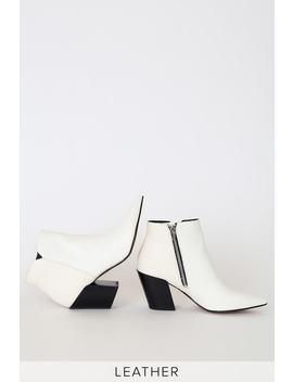 aden-white-leather-pointed-toe-ankle-booties by dolce-vita