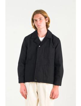 Menswear | Cotton Twill Utility Jacket, Black by Olive