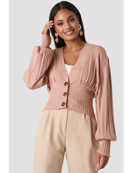 short-ribbed-cardigan-pink by na-kd-trend